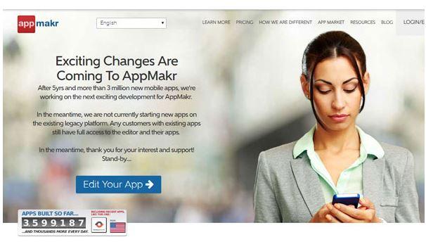 Ứng dụng Appmakr.
