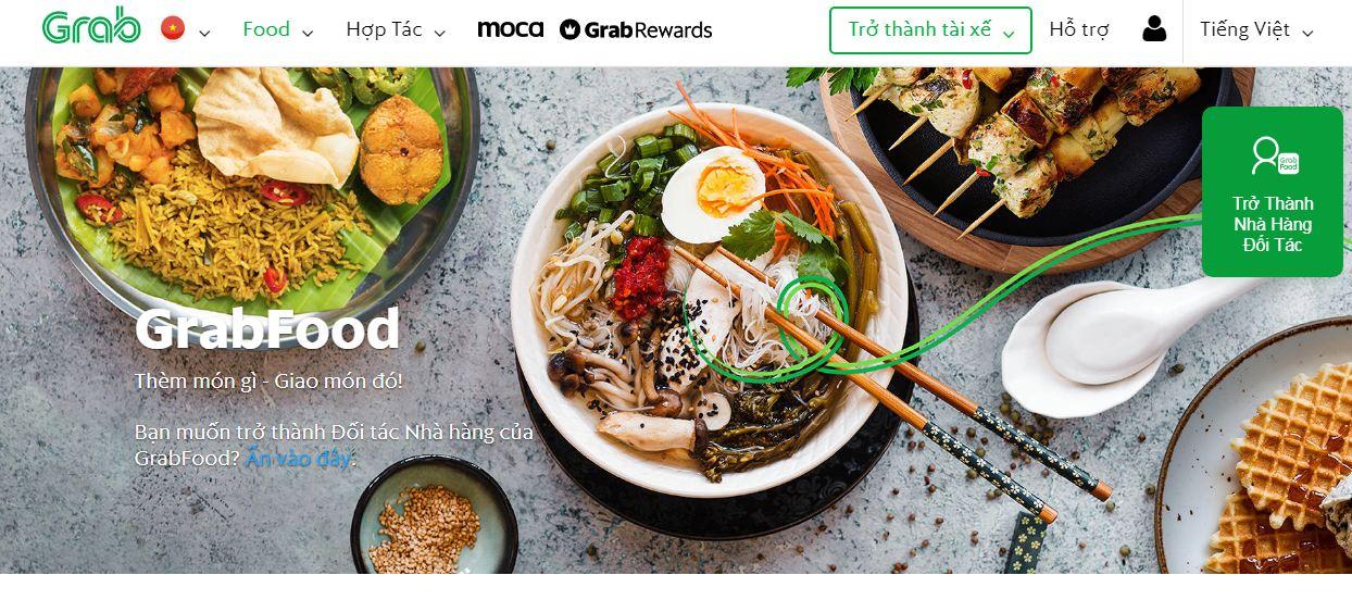 App mua đồ ăn Online Grabfood