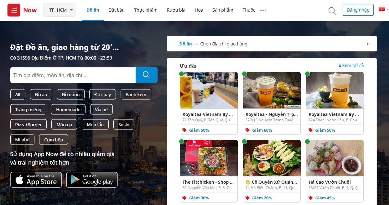 Now - ứng dụng mua đồ ăn online