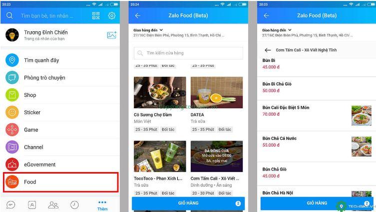 Zalofood - ứng dụng mua đồ ăn online đang thử nghiệm