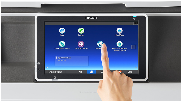 Sử dụngRICOH Smart Device Print&Scan dễ dàng chỉ cần có kết nối internet