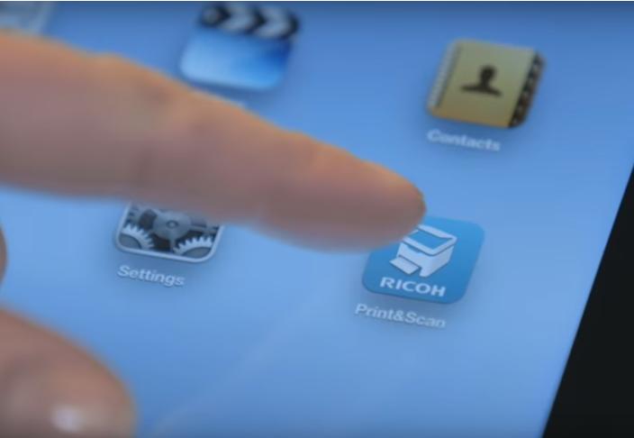 Hướng dẫn in qua ứng dụng điện thoại cho máy photocopy Ricoh