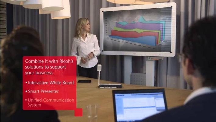 RICOH Smart Device Print&Scan cho phép gửi fax nhanh chóng không chậm trễ buổi họp