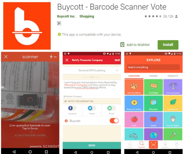 Buycott Barcode Scanner Vote