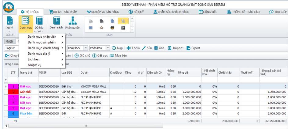 Phần mềm quản lý kinh doanh bất động sản BeeLand