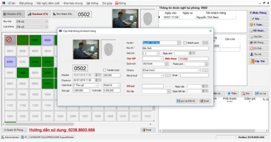 Phần mềm quản lý khách sạn Topsoft Hotel