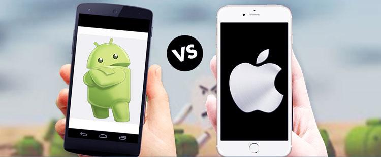 so sánh hệ điều hành ios và android