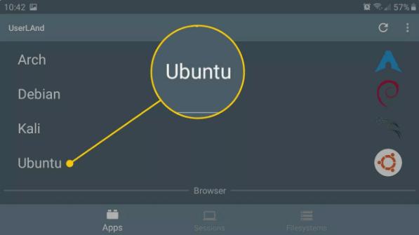 Cách cài ubuntu cho Android