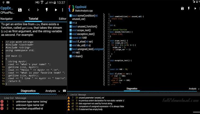 CppDroid - Phần mềm viết code trên điện thoại