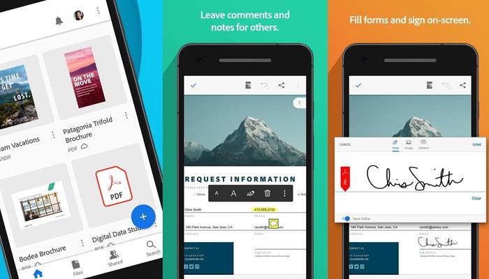 Phần mềm đọc file pdf cho Android - Acrobat Reader Mobile